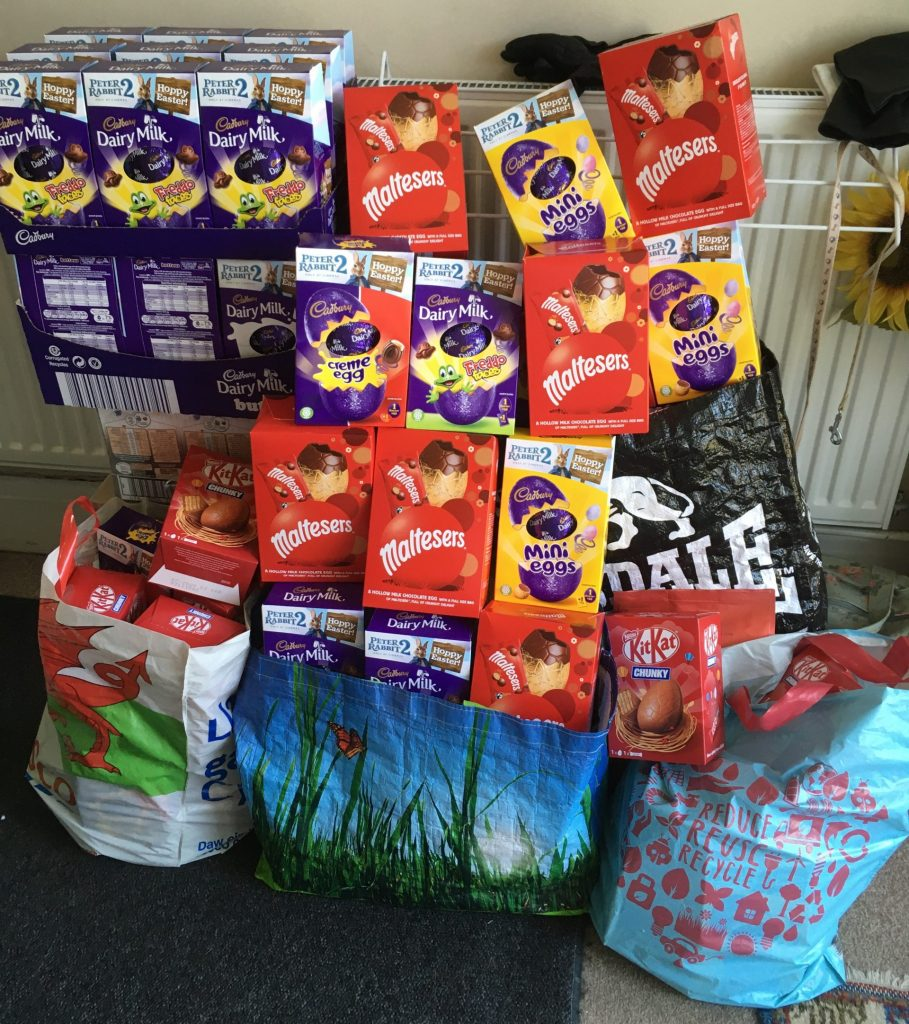 Easter Eggs for Children's Wards in Morriston Hospital
