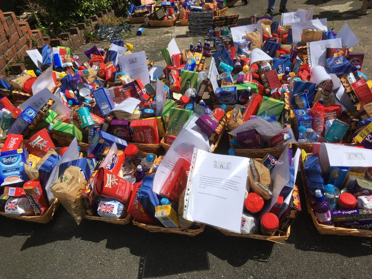 Food Hampers donated to DSA Members
